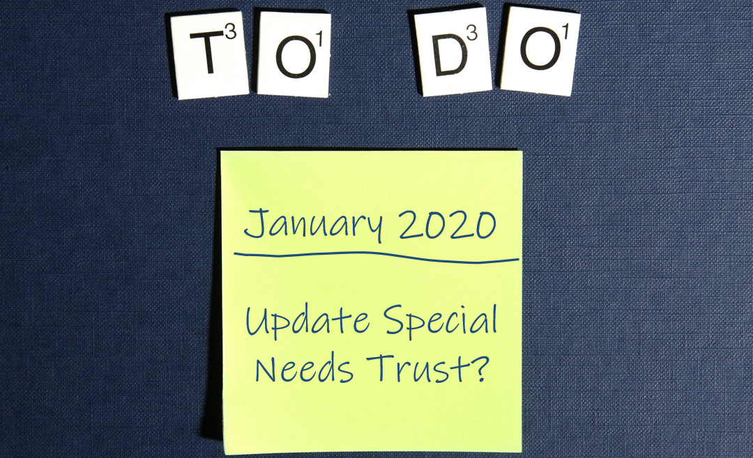 to do list, special needs trust