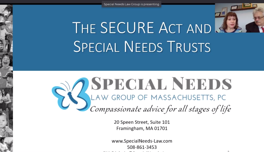 WEBINAR: The SECURE Act and Special Needs Trusts